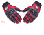 Gants-de-scooter-moto-scooter-ecran-tactile-rouge-homologue-CE miniature 1