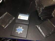 Vintage Clint Eastwood Dirty Harry leather ID holder w non remov badge 12 pc LOT