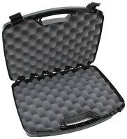 Double Gun Hard Case Storage Carry Padded Foam Lockable Box Handgun Pistol Two 2