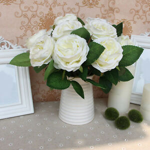 Details Sur Bouquet Fleurs Artificielles Faux Soie Mignon Diy Decoration Mariage Maison