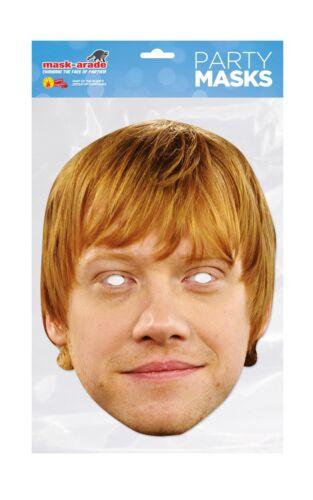 Rupert Grint Ron Weasley Face Party Mask Card A4 Fancy Dress Potter Film Kids