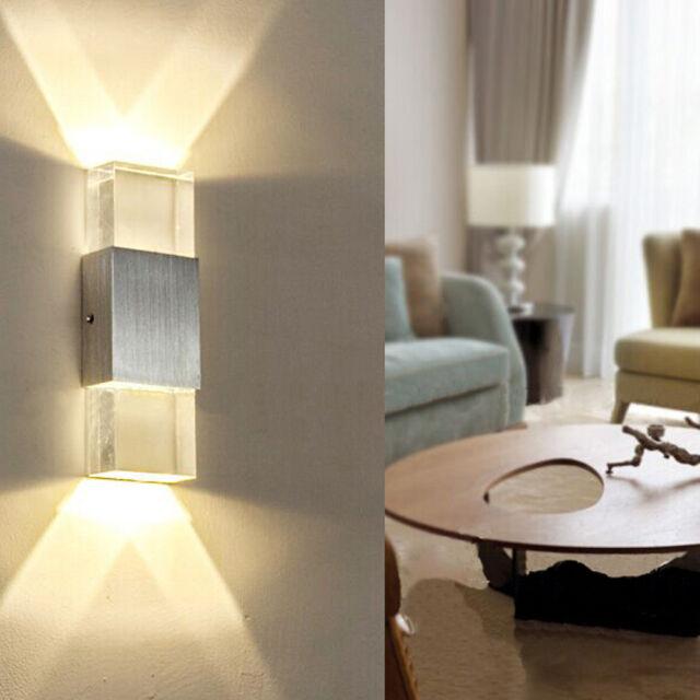 6W LED Wandlampe Wandleuchte Glas Treppenlampe Flurlampe Wanddeko warmweiß DHL