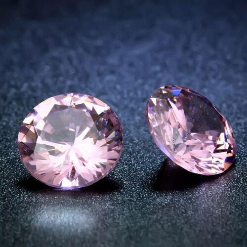 Cubic Zirconia Loose Stones  Round Brilliant bead round gems 8 mm 2 Stones 5A