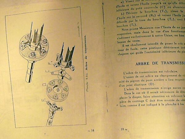 Ancienne Copie Livret Entretien Lancia Balila 7cv 1196cm3 Annees 1930/40