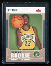 2007-08 Fleer #214 Jeff Green RC - Seattle Supersonics Rookie