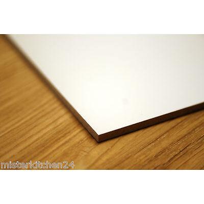 4 x Hartfaserplatte weiss 3mm Möbelplatte 34x24cm Modellbau basteln heimwerken