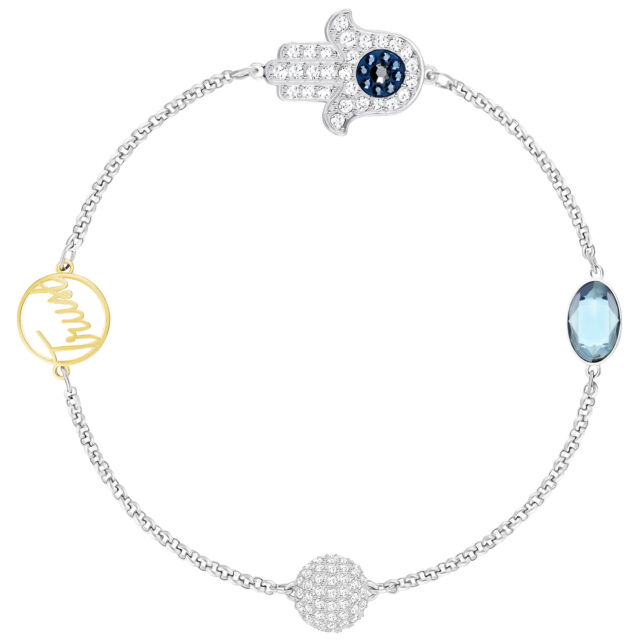 Swarovski 5365759 Remix Silver Trust Boundless Bracelet 17 5cm Ebay