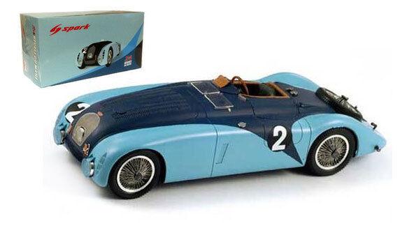 Spark 18lm37 Bugatti 57G   2 Vainqueur du Mans 1937-Wimille   Benoist échelle 1 18