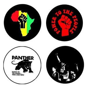 Black Panther , B - 4 chapas, pin, badge, button
