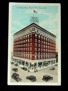 C 1920 Kemp Hotel Wichita Falls Tx Post Card Ebay