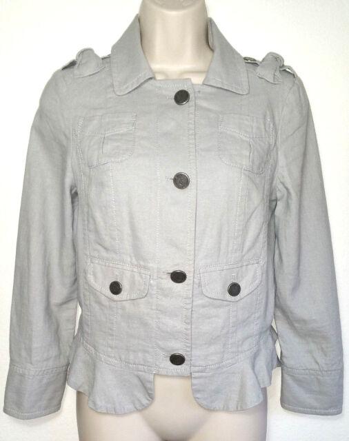 Juicy Couture Women Jacket Blazer Coat Tiered Hem Size P XS Extra Small US 0