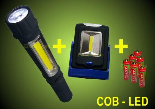 Lámpara de trabajo mano lámpara batería cob LED linterna de planta lámpara
