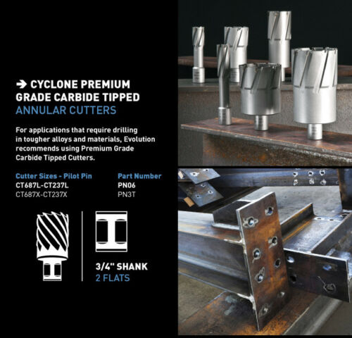 """1-5//16/"""" x 2/"""" long w// Pilot Pin Evolution Carbide Cutter"""