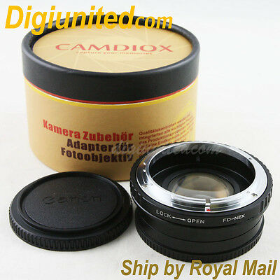 Camdiox Focal Reducer Speed Booster Canon FD mount lens to Sony NEX Adapter 7 5R