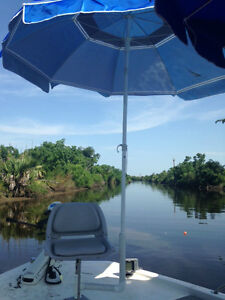 Ultra boat seat umbrella fishing rod holder river for Fishing rod ultra sun
