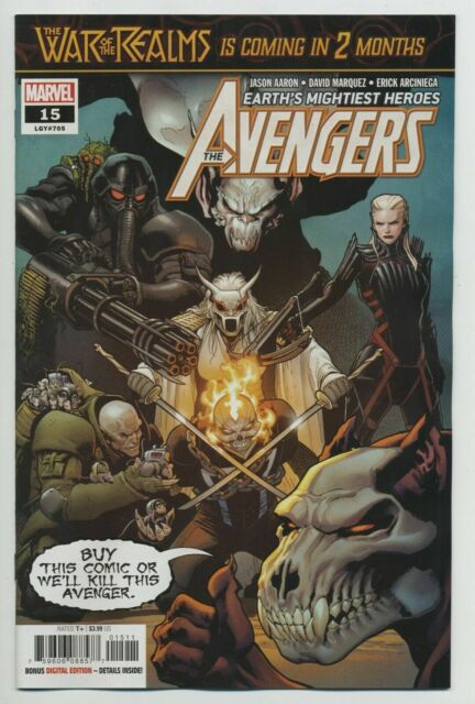 Avengers #15 Marvel Comic 1st Print 2019 Unread NM
