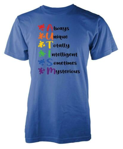 Always Unique Totally Intelligent Sometimes Mysterious Autism Kids T Shirt