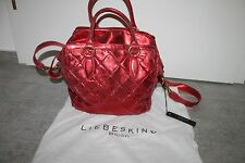 Liebeskind Berlin Damen Tasche Handtasche Metallic Manoux Rot Neu mit Etikett
