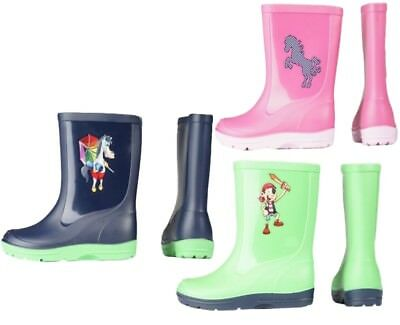 Bambini/neonati/bambini Wellington/stivali Di Gomma Pioggia Stivali. Cartone Animato Cavallo/pony-nts/kids Wellington/wellies Rain Boots. Cartoon Horse/pony It-it
