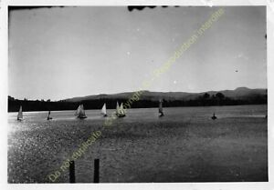 Original Photo Madagascar 1948 Lake Andraikiba Concours Boats IN Sail n61