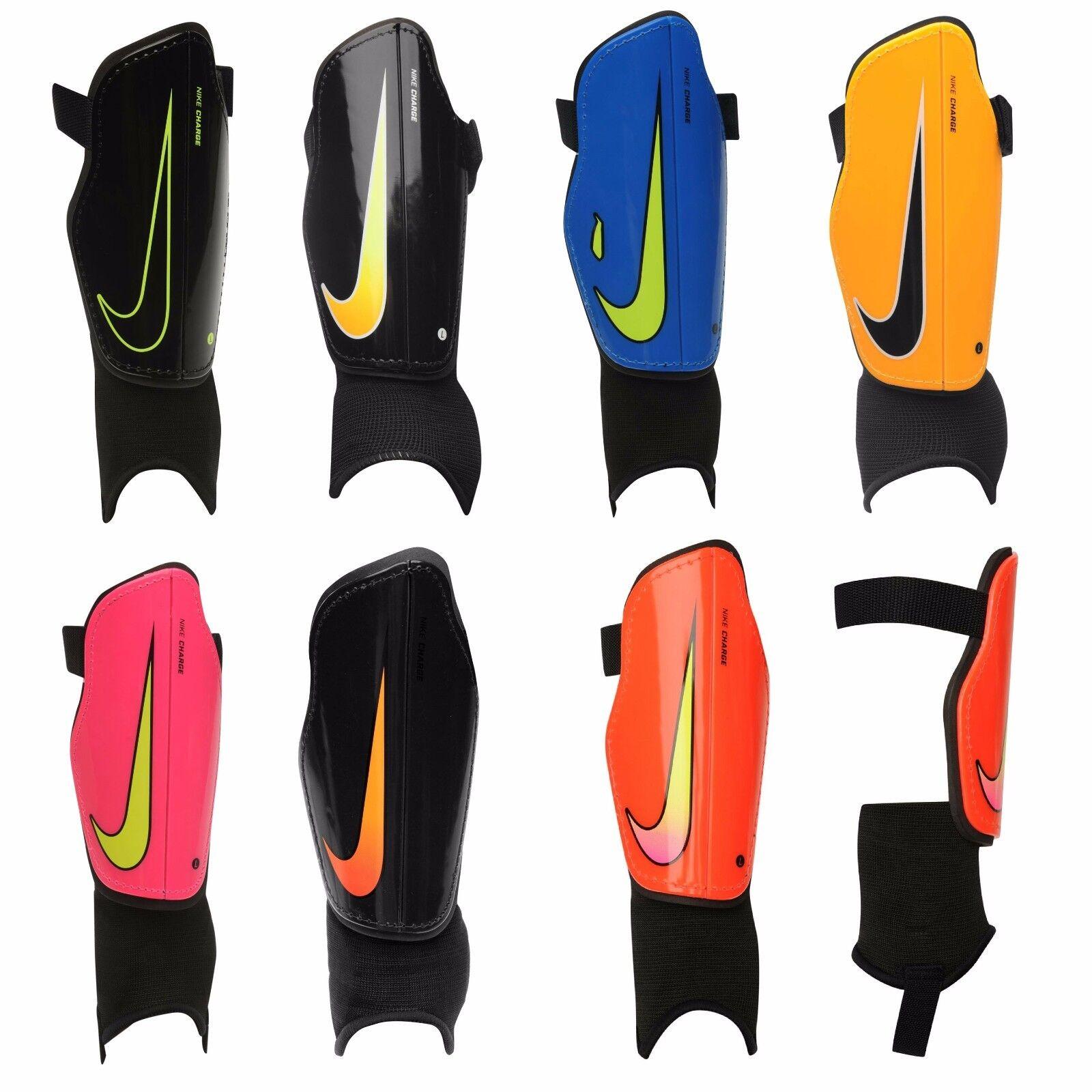 Détails sur Nike Protège tibias Football Gardes Jeunes Charge Enfants Garçons M Grand Hockey