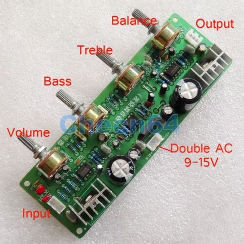 NE5532 4558D Preamplifier Operational Volume Control Board AC 9V-15V