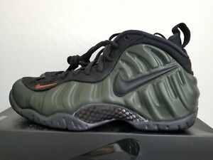 651a7cdacad NIKE AIR FOAMPOSITE PRO SEQUOIA GREEN BLACK TEAM ORANGE 624041-304 ...