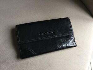 feuille Verni Porte Compagnon Noir Longchamp Impeccable YwUCR
