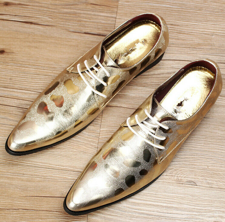 Uomo British Style Lace Up Pointed Toe Wedding Shoes Formal Pumps Fashion NEW&