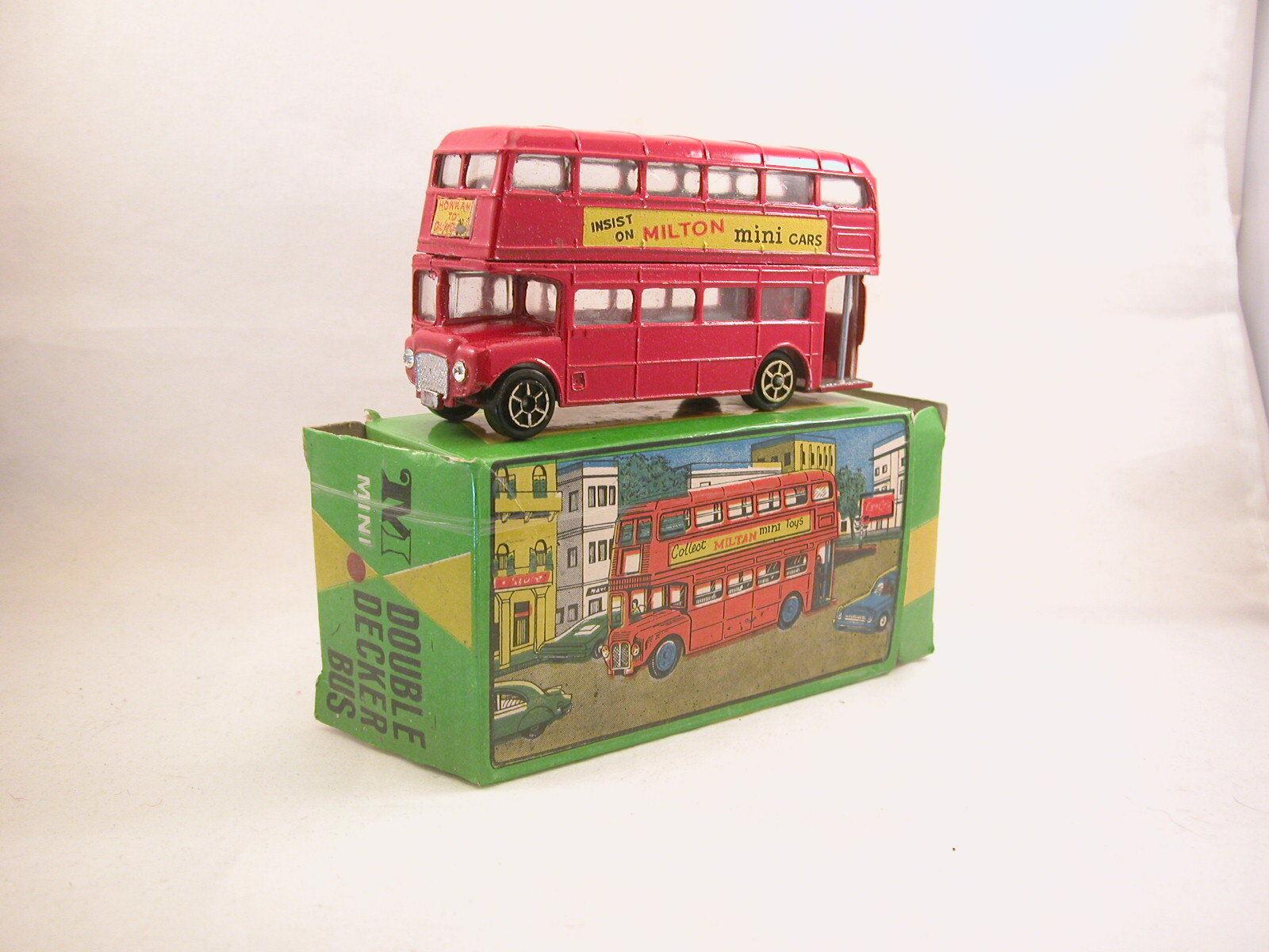 Milton Mini 837 Bouble Decker Bus avec boite d'origine (  A18)