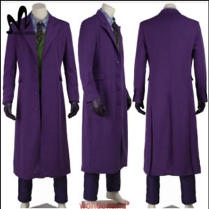 Details About The Dark Knight Joker Heath Ledger Halloween Cosplay Costume Full Set All Size