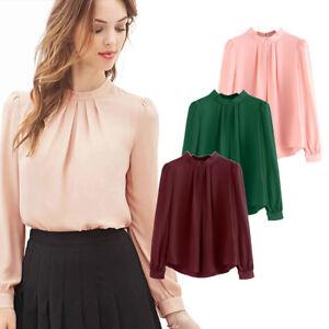 Fashion-Summer-Women-Casual-Chiffon-Long-Sleeve-Ladies-Shirt-Loose-Tops-Blouse