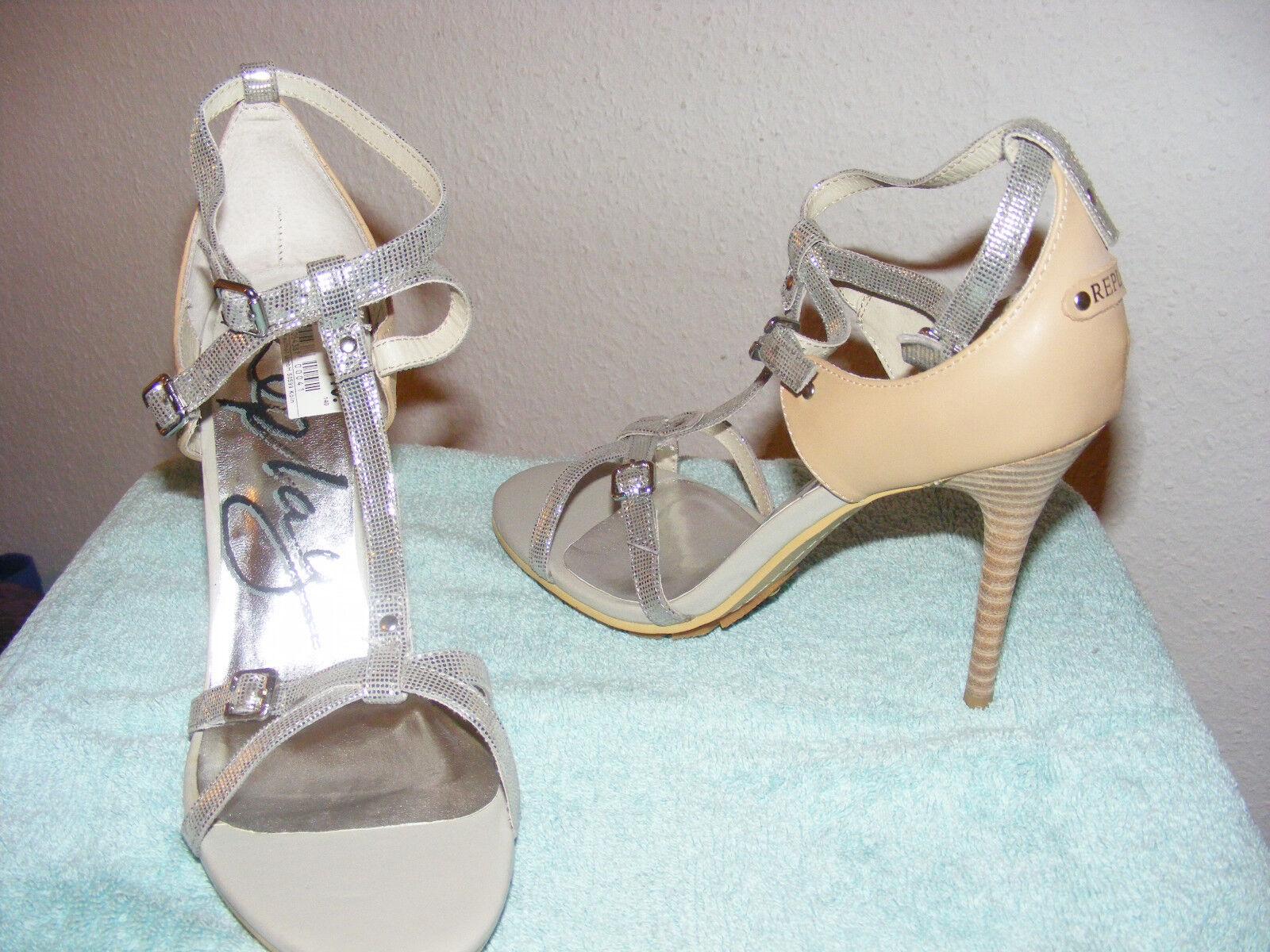 Talla 41 nuevo señora pumps, sandalias zapatos de noche noche noche con tiras plata stilettos Replay  colores increíbles