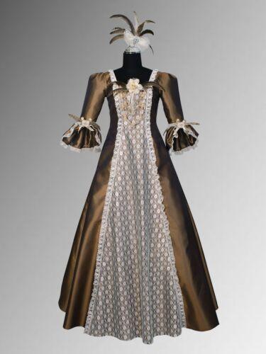Renaissance Costume Victorian Style Dress Fur clothing brown noblewoman handmade