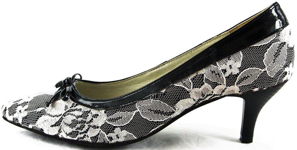 Andrea Conti Schuhe Pumps High Heels Schwarz-Weiß 2204