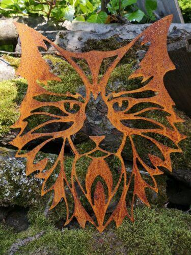 métal rouille Edelrost Jardin Connecteur déco chat superbe deco!!