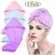 Hair Drying Towels Cap Wrap Absorbent Set Shower Bath Beach Twist Turban O3