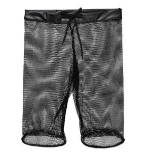 Mens-See-through-Fishnet-Drawstring-Lounge-Underwear-Boxer-Shorts-Underwear