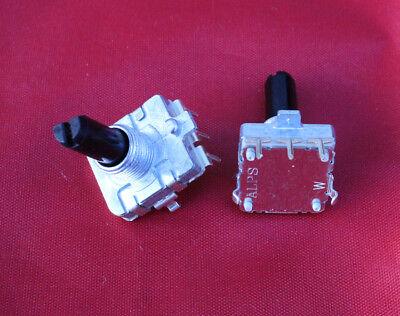 2 x ALPS EC16 Rotary Encoder 24 Pulses 20mm D Shaft PC Mount 19mmx16mm Body