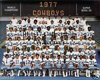 1977 Dallas Cowboys Nfl Super Bowl Champions 8x10 Team Photo