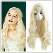Alice in Wonderland White Queen Synthetic Wig Classic Carve Long Wavy Wigs