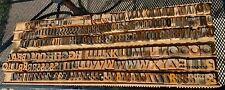 296 Antique Wood Letterpress Printing Press Type Block Letters Number Typeset
