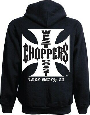 WEST COAST CHOPPERS Hoodie mit Reissverschluss Por Vida Schwarz