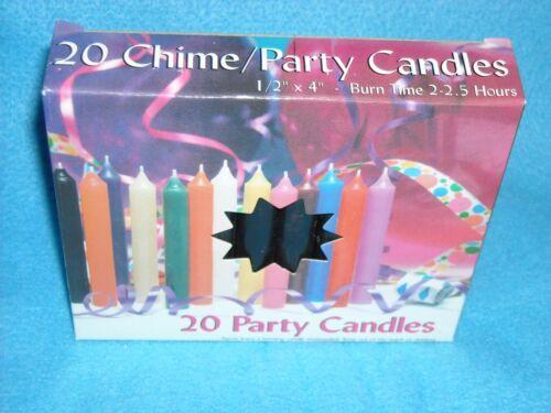 """NIB Christmas Angel Chime Candles Box of 20 Black 1//2/"""" by 4/"""" tall"""