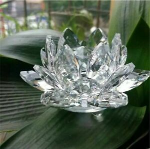 LARGE-CLEAR-CRYSTAL-LOTUS-FLOWER-ORNAMENT-WITH-GIFT-BOX-CRYSTOCRAFT-HOME-DECOR
