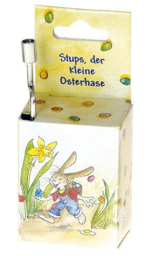 """Spieluhr Rolf Zuckowski /""""Stups der kleine Osterhase/"""" Spieluhr Kurbelwerk Musik"""