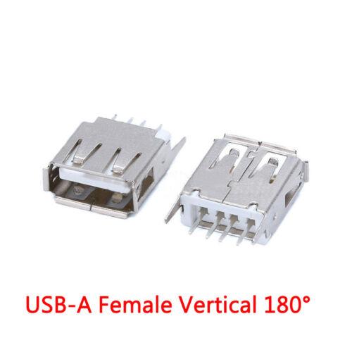 USB Buchse A //B Weiblich Zweilagig SMD //DIP Gebogen//Seiteneinsatz//90°//180°