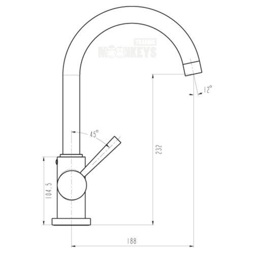 Wasserhahn Küche Weiß Spülbecken Küchenarmatur 111660 Mischbatterie für Küche