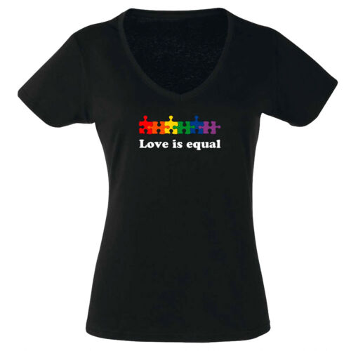 lesbisch Love is love pride gay CSD rainbow2 Puzzle V-T-Shirt