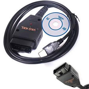 usb cable kkl vag com 409 1 obd2 ii obd diagnostic scanner fr vw audi seat skoda ebay. Black Bedroom Furniture Sets. Home Design Ideas